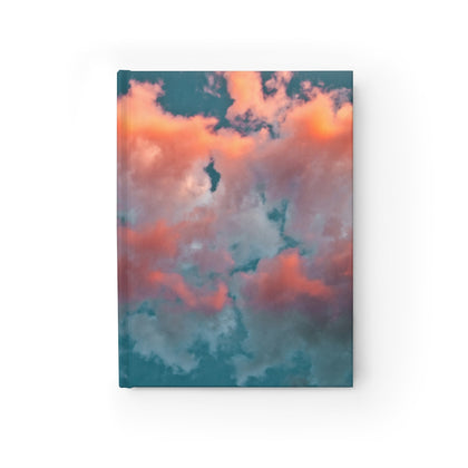 Pink Aqua Clouds Sky Notebook Journal - Jim N Em Designs