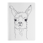 Llama Portrait Head Shot Sketch Paperback Journal - Jim N Em Designs