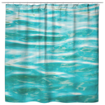 Aqua Water Ripples Shower Curtain Abstract Home Decor - Jim N Em Designs