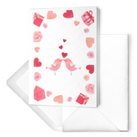 Valentine's Day Cards Pink Kissing Birds Hearts Roses Gifts - Jim N Em Designs