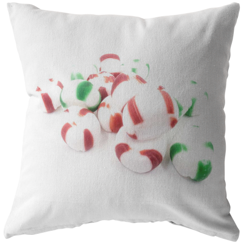 Peppermint Candy Christmas Throw Pillow Home Decor - Jim N Em Designs