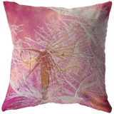 Pink Dandelion Flower Floral Garden Home Decor Throw Pillow - Jim N Em Designs