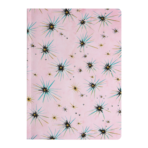 Vintage Pink Starburst Paperback Journal - Jim N Em Designs