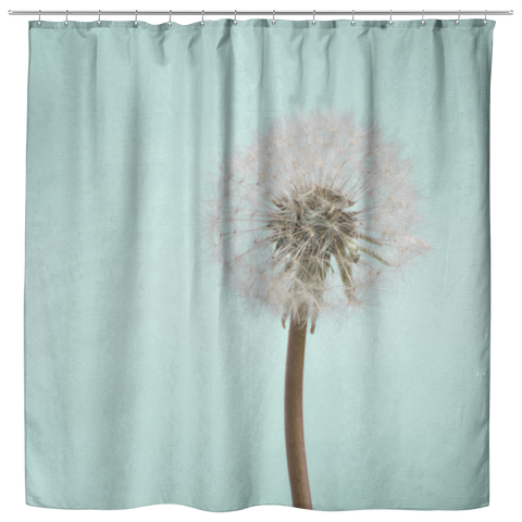 Aqua Dandelion Flower Shower Curtain Home Decor Bathroom - Jim N Em Designs