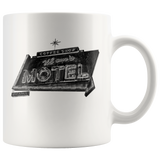 Mom's Motel Vintage Neon Sign 11 oz Ceramic Mug - Jim N Em Designs