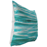 Aqua Water Ripples Abstract Throw Pillow Home Decor - Jim N Em Designs