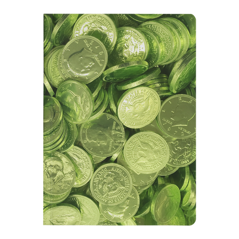 Green Candy Coins Paperback Journal - Jim N Em Designs