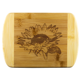 Sunflower Etched Bamboo Cutting Board Kitchen Decor Home - Jim N Em Designs
