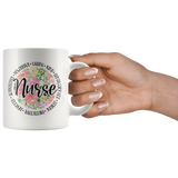 Nurse Love Floral Mug 11 oz Ceramic - Jim N Em Designs