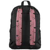 Frenchie Love Pink and Black Backpack French Bulldog - Jim N Em Designs