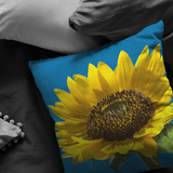 Bright Sunflower Throw Pillow, Flower, Floral, Garden, Home Decor - Jim N Em Designs