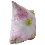 Pink Dogwood Flower Floral Throw Pillow Home Decor - Jim N Em Designs