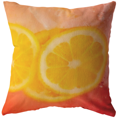 Cherry Lemonade Icy Pitcher Throw Pillow Summer Colors - Jim N Em Designs