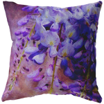 Wysteria Purple Flower Floral Garden Throw Pillow - Jim N Em Designs