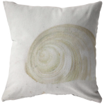 Seashell Sand Throw Pillow Beach Ocean Home Decor - Jim N Em Designs