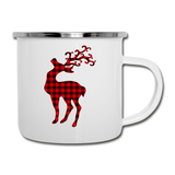 Christmas Red Buffalo Plaid Elk Deer Reindeer Camper Mug - Jim N Em Designs