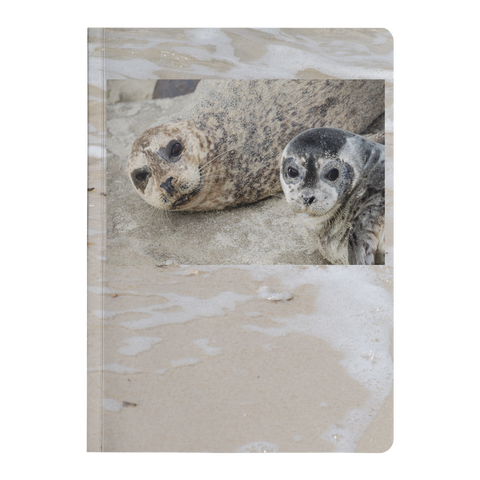 Mother and Baby Seal on the Beach Paperback Journal - Jim N Em Designs