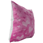 Pink Floating Hearts Throw Pillow - Jim N Em Designs