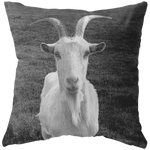 Goat Portrait Head Shot Farm Animal Cottage Farm Decor Throw Pillow - Jim N Em Designs
