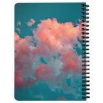 Pink Aqua Cotton Candy Clouds Spiral Bound Notebook - Jim N Em Designs