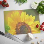 Bright Sunflower Glass Cutting Board Kitchenware Gift Idea Flower Floral Garden - Jim N Em Designs