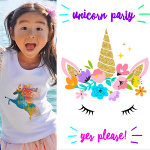 Girls Unicorn Flutter Top