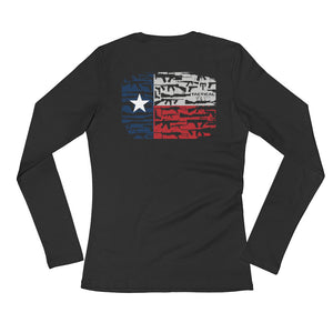 Texas Arms (Design on Back) - Ladies' Long Sleeve T-Shirt