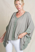 oversized lace poncho top