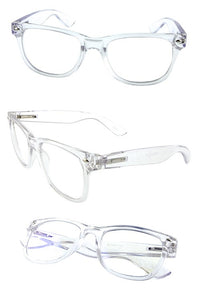 blue light clear rimmed fashion glasses