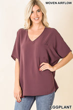 woven dolman pocket top