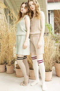 stripe knee sock