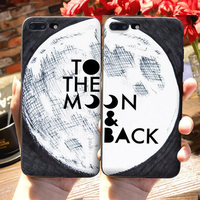 "Coque Citation 📖 "" To the moon & back "" 🌕 iPhone Xs / Xs Max / Xr / X / 8 Plus / 8 / 7 Plus / 7 / 6 Plus / 6 / SE / 5s - PommeAddict.fr"