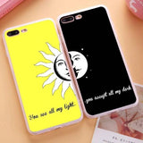 "Coque ""You see all my light..."" ☀️ iPhone X/8/8 Plus/7/7 Plus/6s/6s Plus/6/6 Plus/5/5s/SE - Pomme Addict"