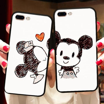 Coque Minnie & Mickey 💋 iPhone X/8/8 Plus/7/7 Plus/6s/6s Plus/6/6 Plus/5/5s/SE - Pomme Addict
