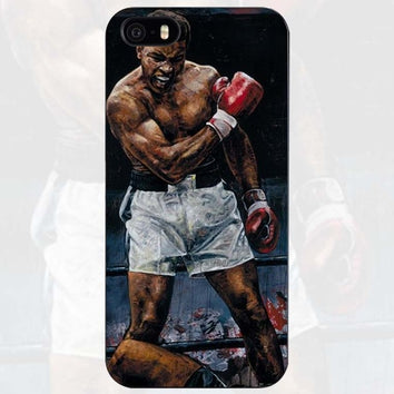 "Coque Box 🥊 "" Mohamed Ali - K.O "" iPhone Xs / Xs Max / Xr / X / 8 Plus / 8 / 7 Plus / 7 / 6 Plus / 6 / SE / 5s - PommeAddict.fr"