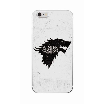 "Coque Série 🎬 "" Game Of Thrones ( Winter is coming ) "" #1 iPhone Xs / Xs Max / Xr / X / 8 Plus / 8 / 7 Plus / 7 / 6 Plus / 6 / SE / 5s - PommeAddict.fr"