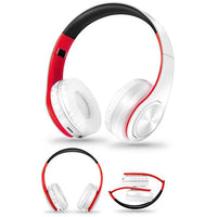 Casque 🎧 audio sans fil Bluetooth Anti-bruit avec Micro (Blanc/rouge) - PommeAddict.fr