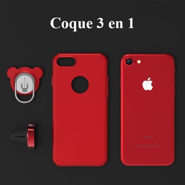 coque avec anneau aimant support voiture iphone x 8 8 plus 7 7 plus pomme addict. Black Bedroom Furniture Sets. Home Design Ideas