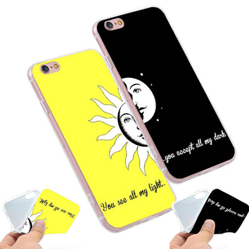 "Coque Citation 📖 "" You see all my light... "" ☀️ iPhone Xs / Xs Max / Xr / X / 8 Plus / 8 / 7 Plus / 7 / 6 Plus / 6 / SE / 5s - PommeAddict.fr"