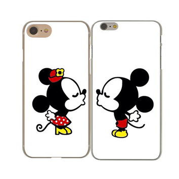 "Coque Meilleurs amies 👦👧 "" Minnie & Mickey 💋 #2 "" iPhone Xs / Xs Max / Xr / X / 8 Plus / 8 / 7 Plus / 7 / 6 Plus / 6 / SE / 5s - PommeAddict.fr"