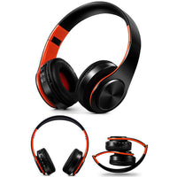 Casque 🎧 audio sans fil Bluetooth Anti-bruit avec Micro (Noir/orange) - PommeAddict.fr