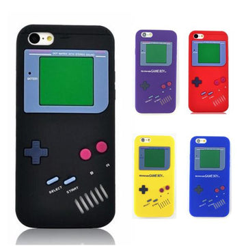 Coque Game Boy 3D 🎮 en Silicone pour iPhone 8/8 Plus/7/7 Plus/6s/6s Plus/6/6 Plus/5/5s/SE/4s/4 - Pomme Addict
