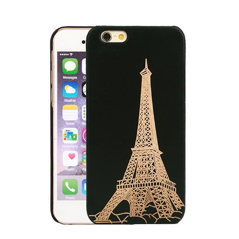 "Coque Bois naturel 🌳 "" Tour eiffel Paris 🗼🇫🇷 "" iPhone Xs / Xs Max / Xr / X / 8 Plus / 8 / 7 Plus / 7 / 6 Plus / 6 / SE / 5s - PommeAddict.fr"