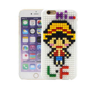 "Coque Lego® "" One Piece - Luffy "" iPhone Xs / Xs Max / Xr / X / 8 Plus / 8 / 7 Plus / 7 / 6 Plus / 6 / SE / 5s - PommeAddict.fr"