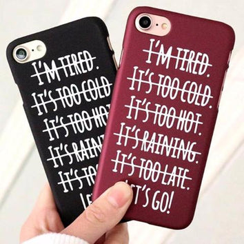 Coque Anti Plainte 💪 motivation pour iPhone 8/8 Plus/7/7 Plus/6s/6s Plus/6/6 Plus/SE/5s/5 - Pomme Addict