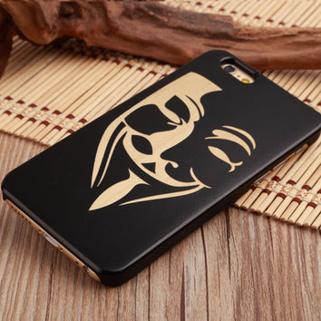 "Coque Bois naturel 🌳 "" Anonymous "" iPhone Xs / Xs Max / Xr / X / 8 Plus / 8 / 7 Plus / 7 / 6 Plus / 6 / SE / 5s - PommeAddict.fr"