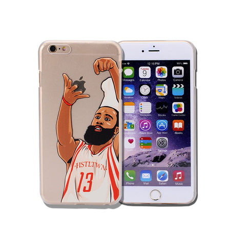 Coque James Harden 🏀 pour iPhone X/8/8 Plus/7/7 Plus/6s/6s Plus/6/6 Plus/5/5s/SE - Pomme Addict