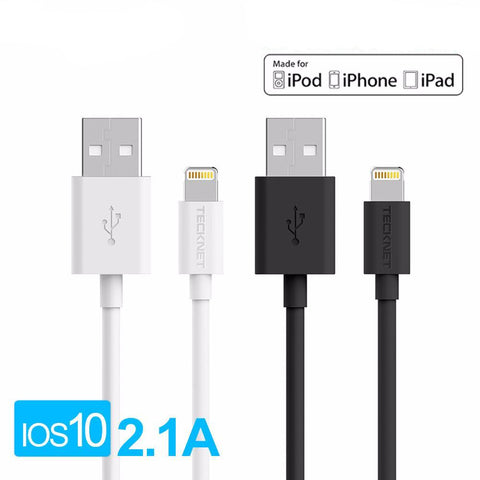 Cable 🔋 Lightning Mfi certifié par Apple pour iPhone/iPad/iPod 1m Charge Rapide - Pomme Addict