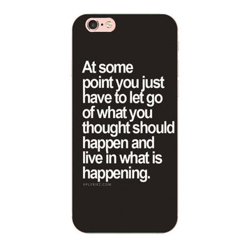 Coque Citation motivation Let Go pour iPhone 8/8 Plus/7/7 Plus/6s/6s Plus/6/6 Plus/5/5s/SE/4s/4 - Pomme Addict