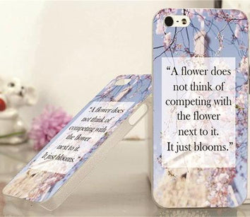 Coque Citation motivation Fleur 🌺 iPhone 8/8 Plus/7/7 Plus/6s/6s Plus/6/6 Plus/5/5s/SE/4s/4 - Pomme Addict